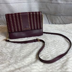 Michael Kors leather and suede studded crossbody